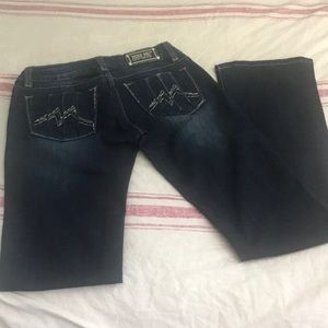 NWOT Miss Me dark wash boot cut jeans 28